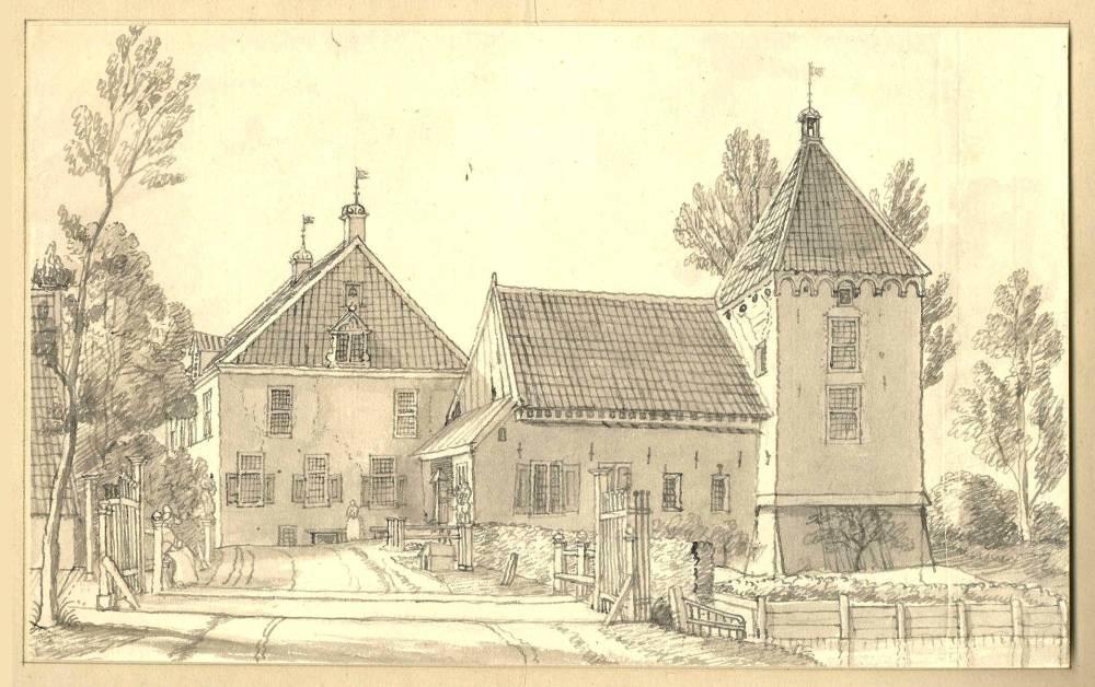 Kasteel Schuylenburg in Silvolde. Tekening Jan de Beijer, 1742
